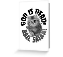 God Is Dead No2 Greeting Card