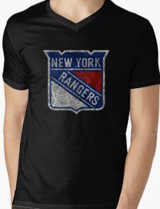 New York Rangers Mens V-Neck T-Shirt