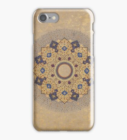 Rosette Bearing the Names and Titles of Shah Jahan, Folio from the Shah Jahan Album iPhone Case/Skin