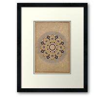 Rosette Bearing the Names and Titles of Shah Jahan, Folio from the Shah Jahan Album Framed Print