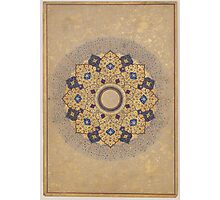 Rosette Bearing the Names and Titles of Shah Jahan, Folio from the Shah Jahan Album Photographic Print
