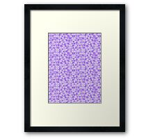Triangular Pattern Purple Framed Print