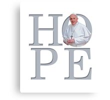 Hope with Pope Francis Canvas Print