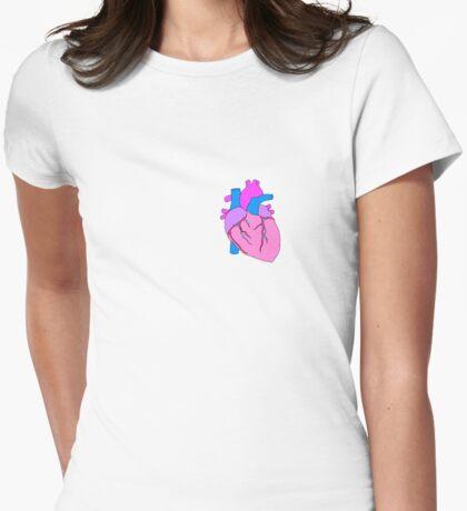 Heart Art Womens Fitted T-Shirt