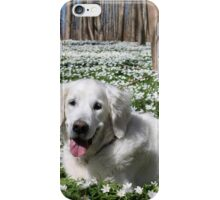 Ditte in the anemones iPhone Case/Skin