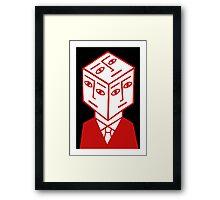 Cube Dude Framed Print