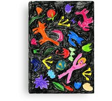 oil pastel pattern Canvas Print
