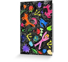 oil pastel pattern Greeting Card