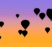 Hot Air Balloons in the Sunrise by pixog