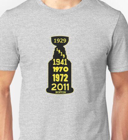 Boston Bruins Stanley Cup Winning Years Unisex T-Shirt