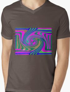 Abstract Swirl Mens V-Neck T-Shirt