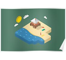 Isometric beach Poster