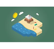 Isometric beach Photographic Print