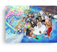 Manga Crossover Canvas Print