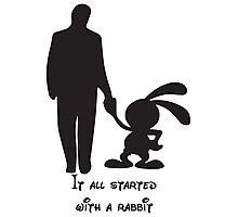 It all started with a rabbit. Photographic Print