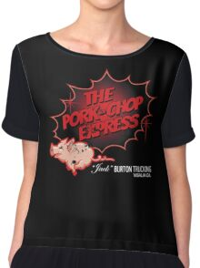 Big Trouble in Little China - Pork Chop Express Distressed Thick Red Fade Variant Chiffon Top