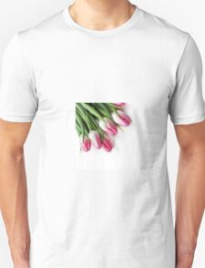 Pink Tulips isolated on white T-Shirt