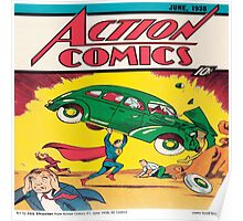 Action comics vintage comics Poster