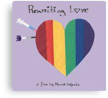 Rewriting Love Film Canvas Print