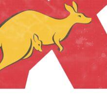Vintage Kangaroo express logo Sticker