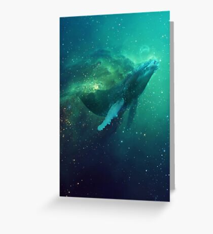 Cosmic Whale Greeting Card