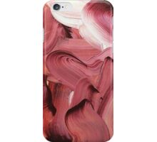 red / purple mixed paint iPhone Case/Skin