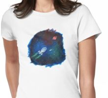 Space painting: USS Voyager Womens Fitted T-Shirt