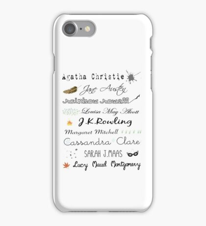 Favorite female authors iPhone Case/Skin