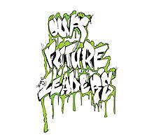 Our Future Leaders Graffiti Green Photographic Print