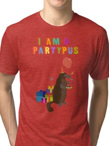 A platypus who loves to party Tri-blend T-Shirt