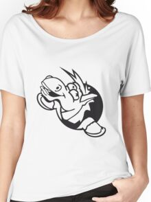 silly grin crazy funny fun face head hole comic cartoon laugh pony stallion Women's Relaxed Fit T-Shirt