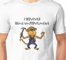 Cool Funny Monkey Handyman Cartoon Unisex T-Shirt
