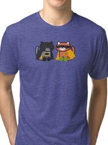 Shadow & Ginger - Crime fighting heroes! (Neko Atsume) Tri-blend T-Shirt