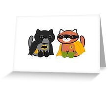 Shadow & Ginger - Crime fighting heroes! (Neko Atsume) Greeting Card