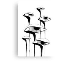 Sad Mushrooms Canvas Print