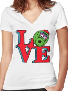 Phanatic LOVE Women's Fitted V-Neck T-Shirt