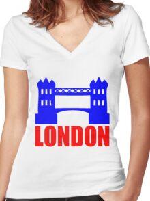 LONDON Women's Fitted V-Neck T-Shirt