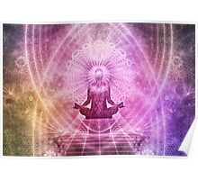 Meditation Abstract Spiritualism Yoga Concept Poster