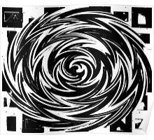 Black & White Swirl Poster
