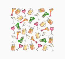 Fun Summer Watercolor Painted Mixed Drinks Pattern Unisex T-Shirt