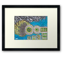 Blue and the Transformation Process Framed Print