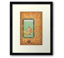 The Emperor Shah Jahan with his Son Dara Shikoh, Folio from the Shah Jahan Framed Print