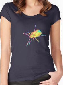 Dogbane leaf beetle - PSYCHEDELIC Women's Fitted Scoop T-Shirt