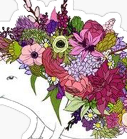 Flower Power Hedgehog Sticker