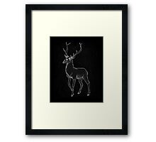 Nightmage Stag Framed Print
