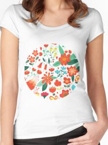 Cute flowers for Valentines Day Women's Fitted Scoop T-Shirt