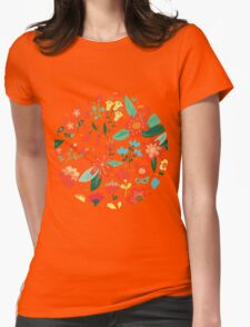 Cute flowers for Valentines Day Womens Fitted T-Shirt