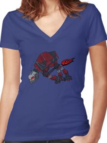 """""""Like when they were on the snow planet"""" (No Text) Women's Fitted V-Neck T-Shirt"""