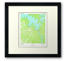 USGS TOPO Map Alabama AL Red Hill 304925 1971 24000 Framed Print