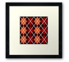Retro colorful old fashion argile Design Framed Print